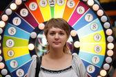 Девушка в казино — Стоковое фото