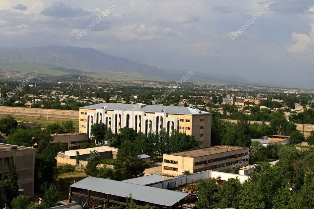 View on Dushanbe with top in the summer — Stock Photo #1087715