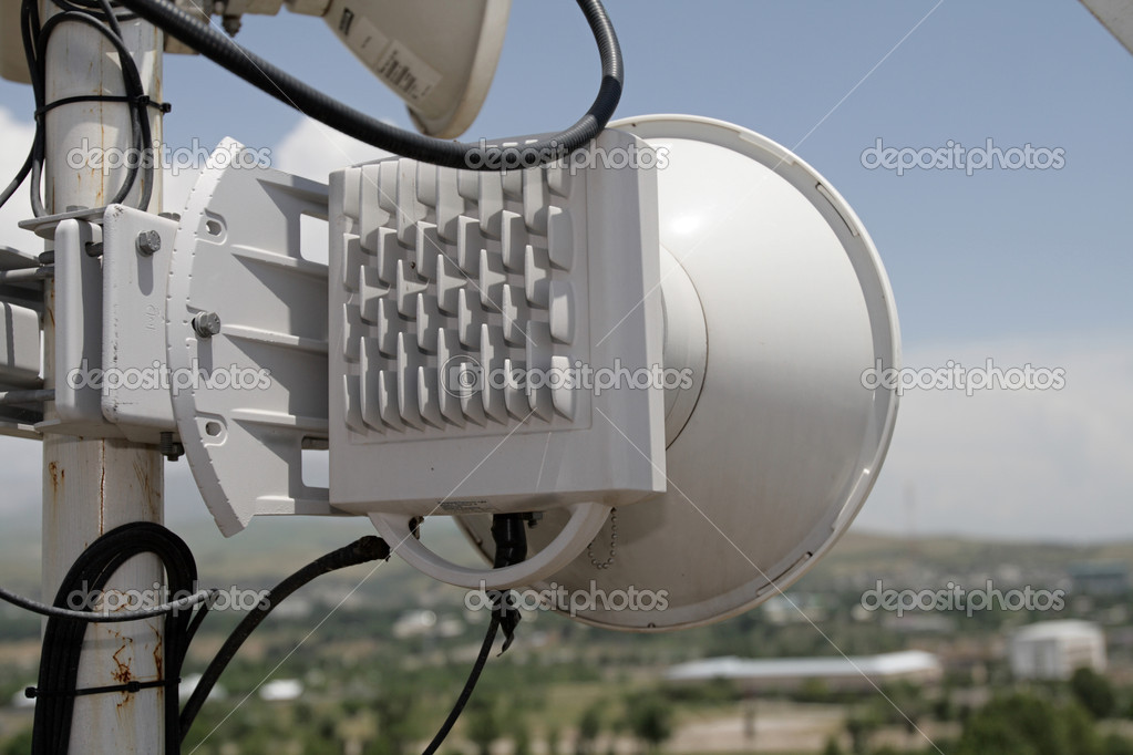 The antenna of radio relay link, 0,6M — Stock Photo #1087724