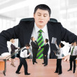 图库照片: Boss and business team