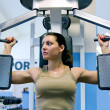 Girl in fitness club — Stock fotografie #1087281