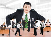 Equipo de jefe y de negocios — Foto de Stock