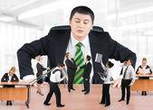 Negócio e chefe de equipe — Foto Stock