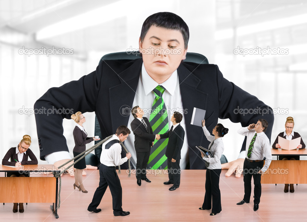 Boss and business team — Stock Photo #1087145
