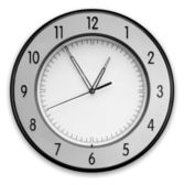 Wall Clock, isolated on white background — Stock Photo