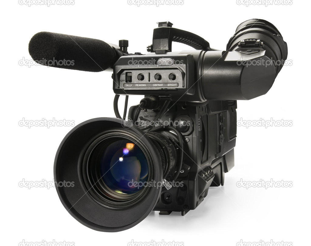 professional digital video camera isola � stock photo