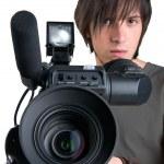 Cameraman, isolated on white background — Stock Photo #1140678