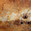 Strongly rusty metal plate - Stock Photo