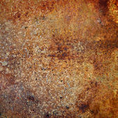 Strongly rusty metal plate — Stock Photo