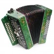 Stock Photo: Green Accordion, isolated on white backg