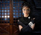 Woman in Castle — Stock Photo