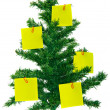 Christmas fur-tree with notes — Stockfoto