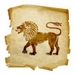 Stockfoto: Lion zodiac icon
