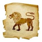 Lion zodiac icon — Stock Photo