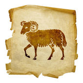 Aries zodiac old — Stock Photo