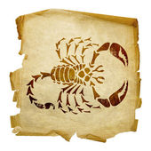 Scorpio zodiac old — Stock Photo