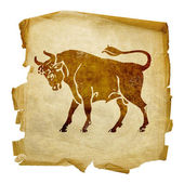 Taurus zodiac old — Stock Photo