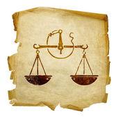 Libra zodiaku stary — Zdjęcie stockowe