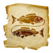 Pisces zodiac old — Stock Photo #1263577