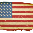 Foto Stock: United States Flag old, isolated on whit