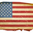 United States Flag old, isolated on whit - Stock Photo