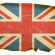 Foto Stock: United Kingdom Flag old, isolated on whi