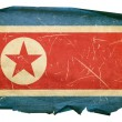 Northern Korea Flag old, isolated on whi — Stock Photo