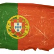 Portugal Flag old, isolated on white bac — Stock Photo #1264320