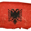 Albania Flag old, isolated on white back — 图库照片