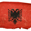 Albania Flag old, isolated on white back — Stock fotografie