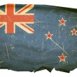 Royalty-Free Stock Photo: New Zealand Flag old, isolated on white