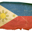 Philippines Flag old, isolated on white — Stock Photo