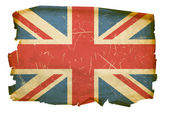 Velká británie vlajka staré, izolované na whi — Stock fotografie