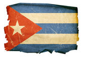 Cuba Flag old, isolated on white backgro — Stock Photo