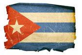Cuba Flag old, isolated on white backgro — Stock Photo