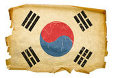 South Korea Flag old, isolated on white — Stock Photo