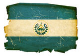 El Salvador Flag old, isolated on white — Stock Photo