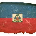 Haiti Flag old, isolated on white backgr — Stock Photo
