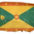 Grenada flag old, isolated on white back — Stock Photo