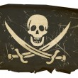 Royalty-Free Stock Photo: Pirate flag old, isolated on white backg