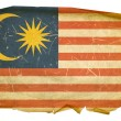 Royalty-Free Stock Photo: Malaysia Flag old, isolated on white bac