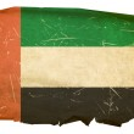 United Arab Emirates Flag old, isolated — Stock Photo #1279453