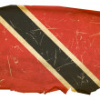 Trinidad and Tobago Flag old, isolated o — Stock Photo