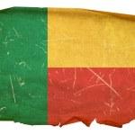 Постер, плакат: Benin Flag old isolated on white backgr