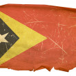 East Timor Flag old, isolated on white b — Stock Photo
