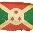 Burundi Flag old, isolated on white back — Stock Photo