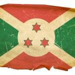 Burundi Flag old, isolated on white back — Stock Photo