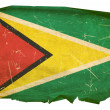 Royalty-Free Stock Photo: Guyana Flag old, isolated on white backg