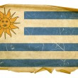 Uruguaian Flag old, isolated on white ba - Zdjęcie stockowe