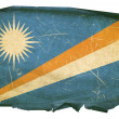 Marshall Islands Flag old, isolated on w — Foto Stock
